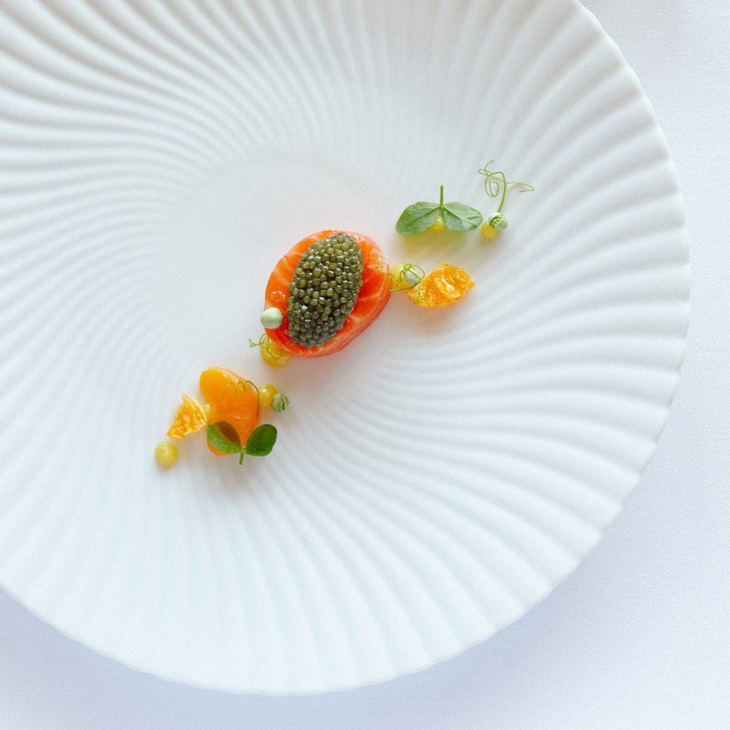 Wild Scottish Sea Trout With Satsuma Mandarin Confit And